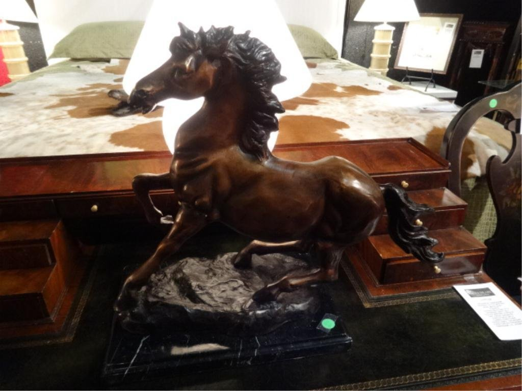BRONZE SCULPTURE, HORSE, SIGNED JAY WILLIAMS, LIMITED