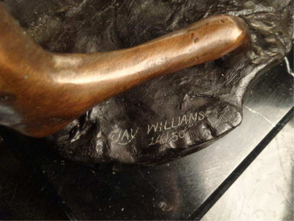 BRONZE SCULPTURE, HORSE, SIGNED JAY WILLIAMS, LIMITED - 5