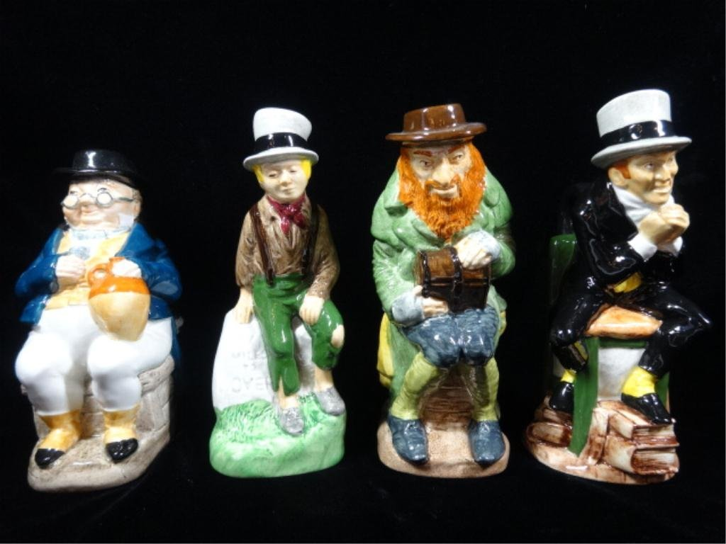 4 PC CHARLES DICKENS TOBY JUG COLLECTION BY WOOD & SONS