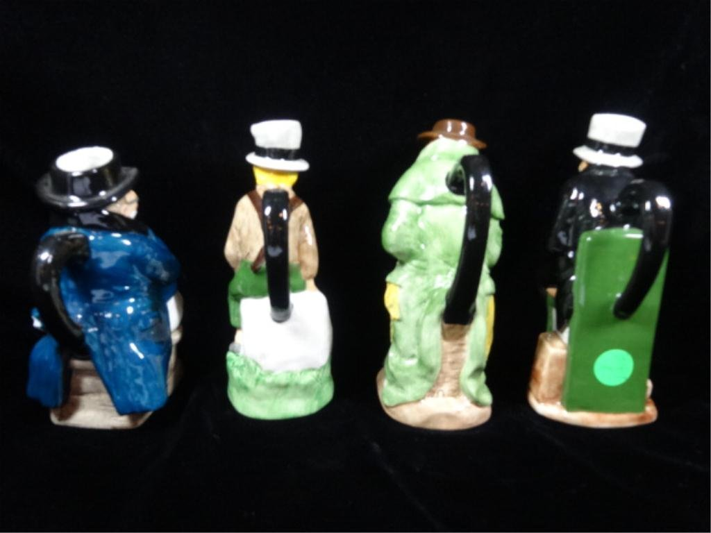 4 PC CHARLES DICKENS TOBY JUG COLLECTION BY WOOD & SONS - 6