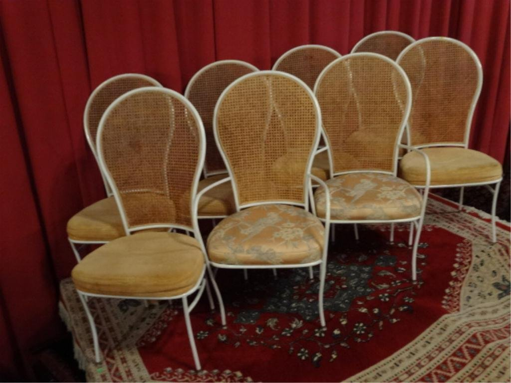 8 MILO BAUGHMAN FOR THAYER COGGIN CHAIRS, SIX SIDE