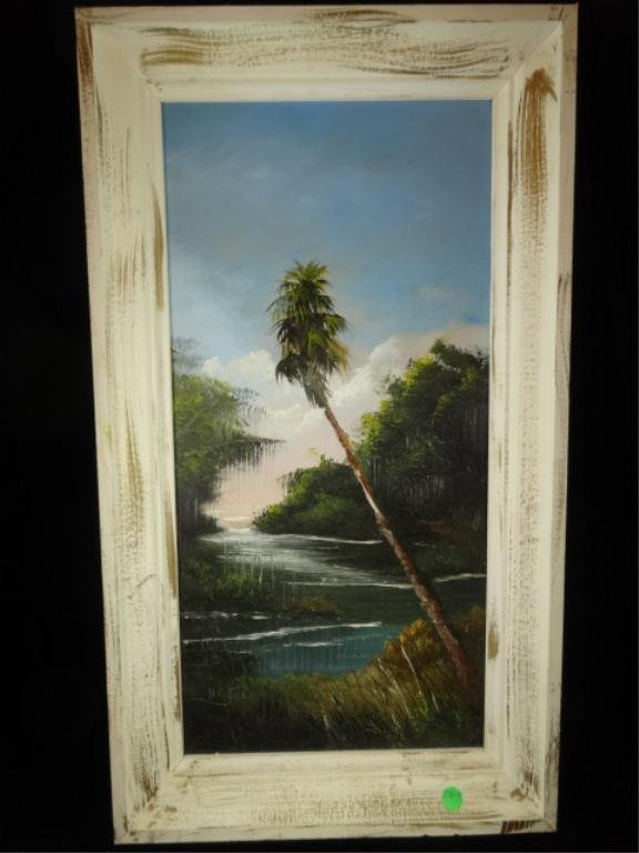 HORACE FOSTER HIGHWAYMAN STYLE TROPICAL PAINTING ON