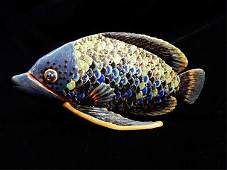 JAY STRONGWATER FISH FIGURINE HANDCRAFTED ENAMEL WITH