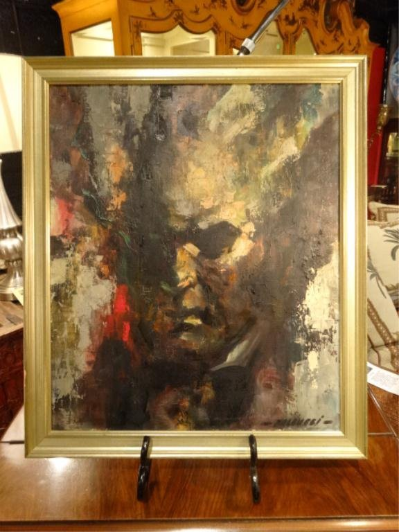 ROBERT FALCUCCI PAINTING ON CANVAS, MOZART, PURCHASED