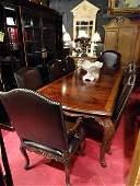 MAITLAND SMITH FLAME MAHOGANY DINING TABLE, LOUIS XV