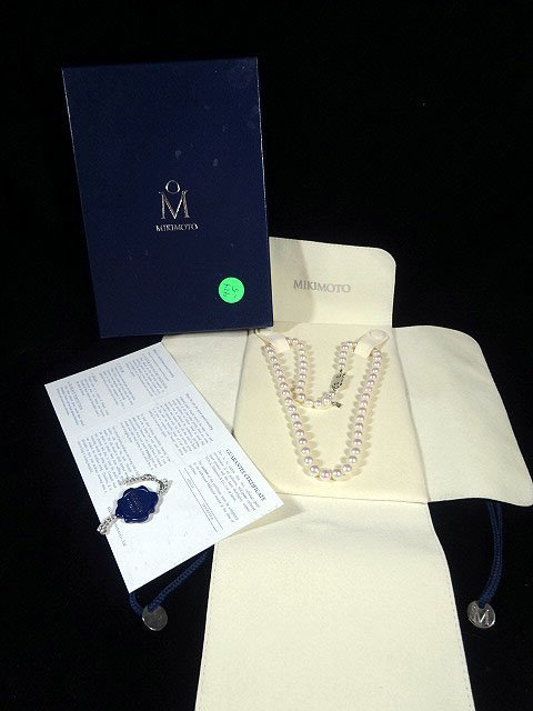 "AUTHENTIC MIKIMOTO 18"" AAA GRADE PEARL STRAND NECKLACE,"