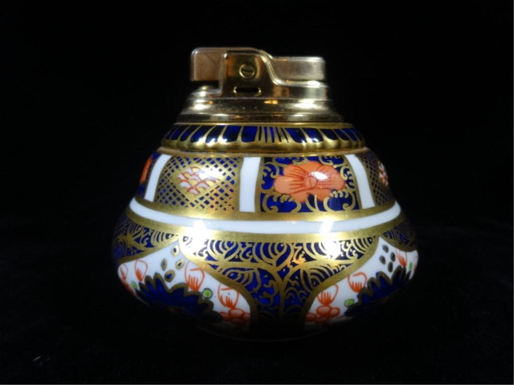 ROYAL CROWN DERBY IMARI PATTERN BONE CHINA LIGHTER,