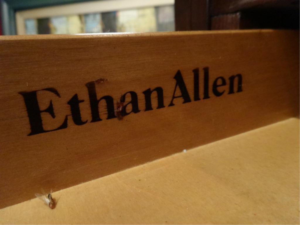 ETHAN ALLEN SECRETARY DESK, GEORGIAN COURT, DROP FRONT, - 8