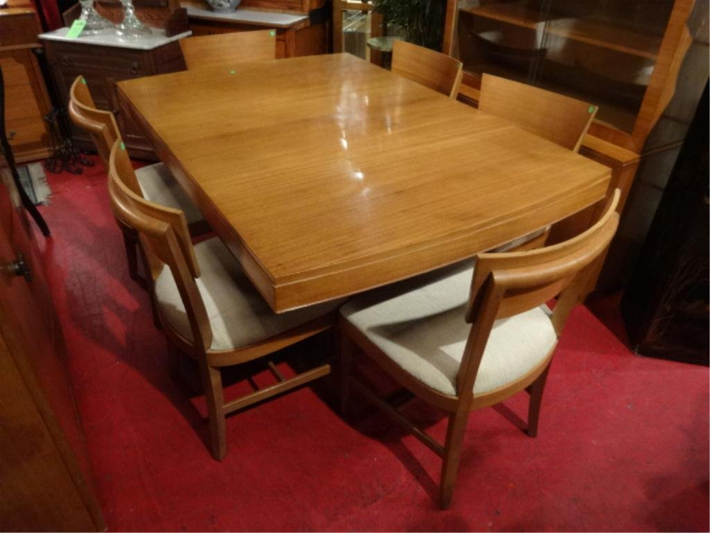 RWAY MID CENTURY MODERN DINING TABLE 6 CHAIRS