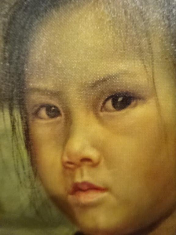 """WAI MING (LO HING KWOK) OIL ON CANVAS, """"THE FISHGIRL IS - 2"""