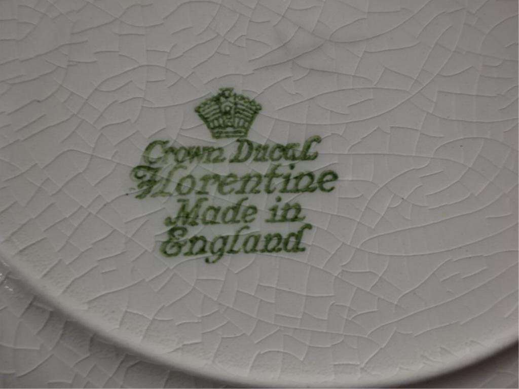 """34 PC CROWN DUCAL """"FLORENTINE"""" CHINA SERVICE, MADE IN - 3"""