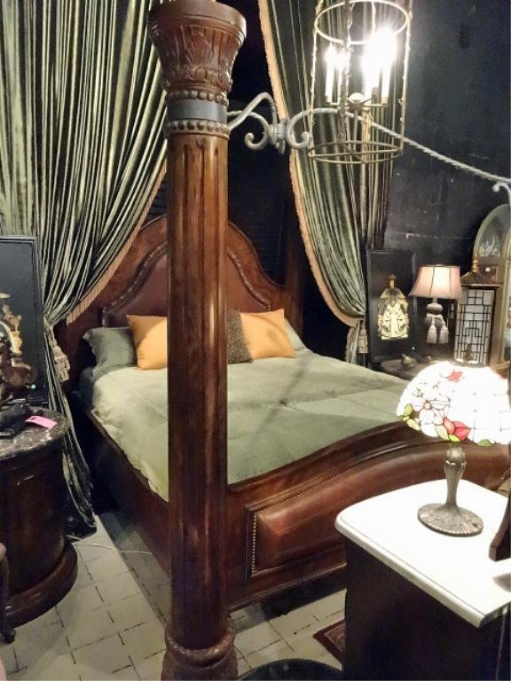 europa king leather bedroom set, includes 4
