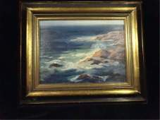 EMILE GRUPPE OIL ON BOARD PAINTING, SEASCAPE, APPROX