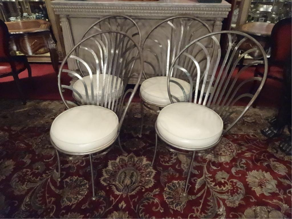4 ARTHER UMANOFF SHAVER HOWARD STEEL CHAIRS, MID