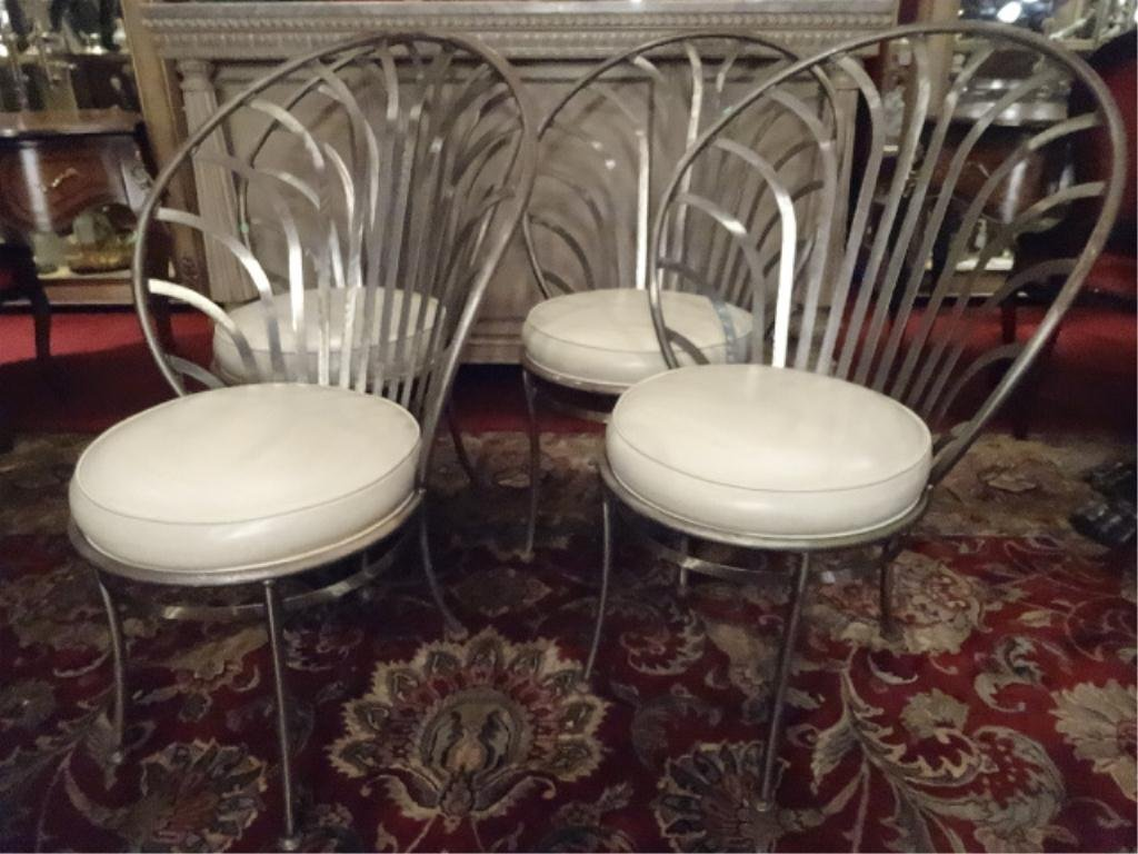 4 ARTHER UMANOFF SHAVER HOWARD STEEL CHAIRS, MID - 2