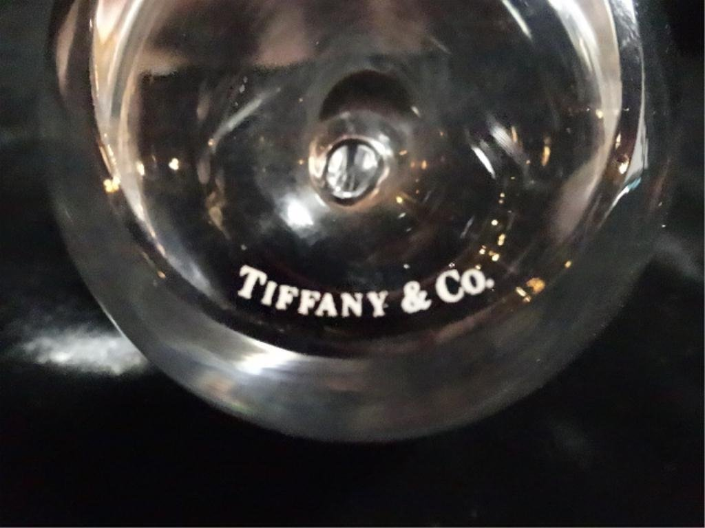 """TIFFANY & CO. CRYSTAL APPLE PAPERWEIGHT, APPROX 3.5""""H - 4"""