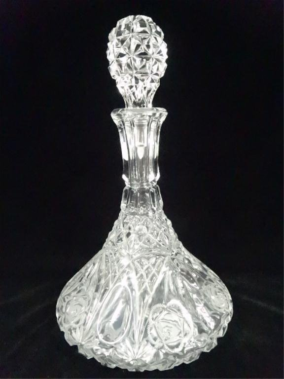 """CRYSTAL SHIP'S DECANTER, APPROX 12""""H"""