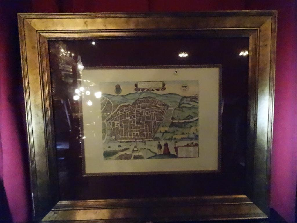 """ANTIQUE REPRODUCTION MAP, RHOTOMAGVS, APPROX 30.5"""" X"""
