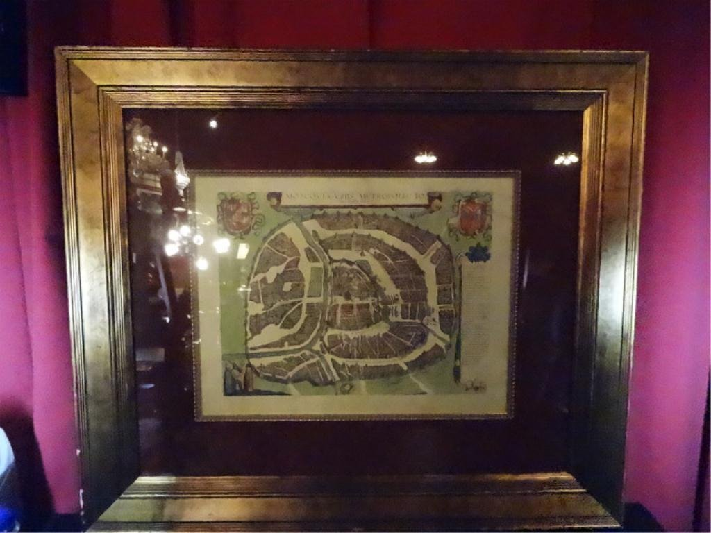 """ANTIQUE REPRODUCTION MAP, MOSCOVIA, APPROX 30.5"""" X"""