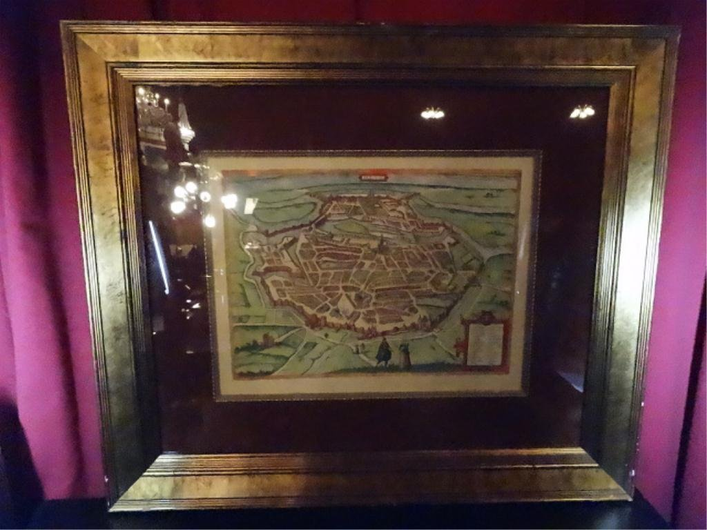 """ANTIQUE REPRODUCTION MAP, METS, APPROX 30.5"""" X 35.5"""""""