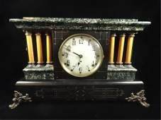 SETH THOMAS ADAMANTINE MANTLE CLOCK WOOD CASE WITH