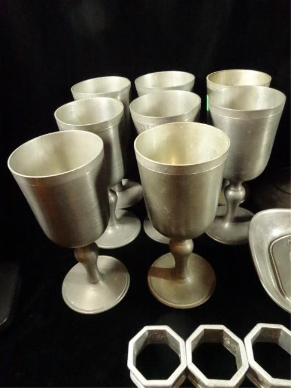 40 PC PEWTER COLLECTION, INCLUDES 8 JOHN SOMERS JS-X-MG - 2