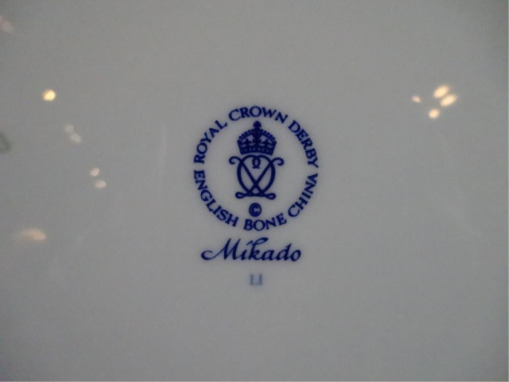 HUGE 106 PC ROYAL CROWN DERBY MIKADO PATTERN CHINA - 3