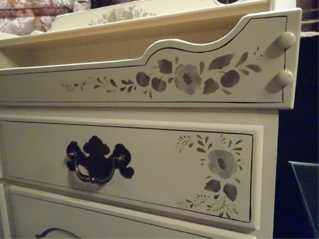 ETHAN ALLEN PAINTED WOOD CABINET OR DRY SINK, 2 DOORS - 2