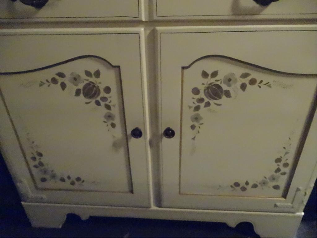 ETHAN ALLEN PAINTED WOOD CABINET OR DRY SINK, 2 DOORS - 4