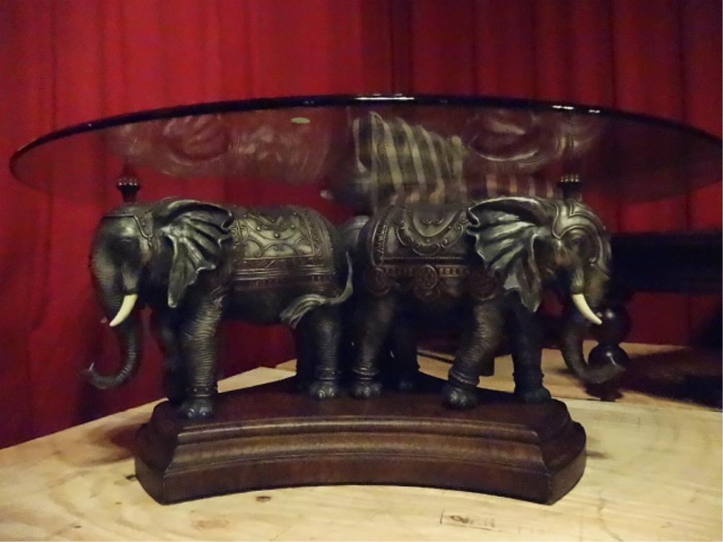 BASE COFFEE TABLE 3 POSITE ELEPHANTS