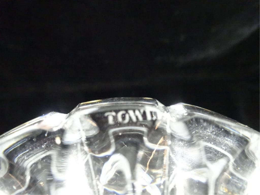 """TOWLE CRYSTAL DECANTER, APPROX 10.75""""H - 4"""