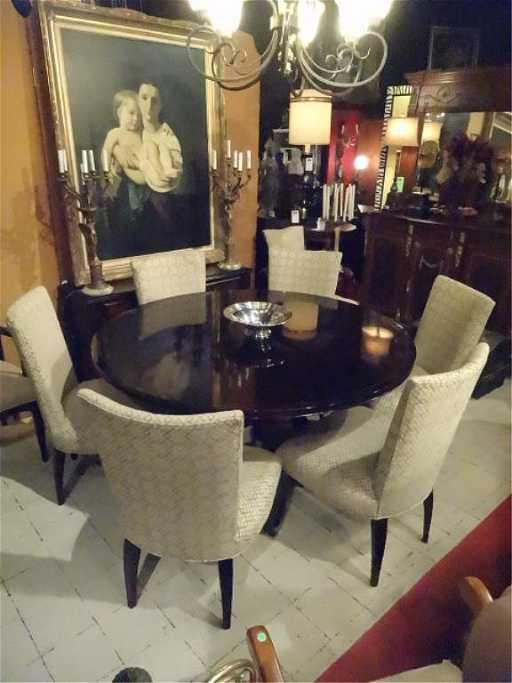 BARBARA BARRY FOR BAKER DINING TABLE 6 CHAIRS 60