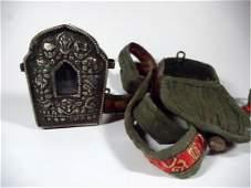 TIBETAN GAU PORTABLE SHRINE APPROX 325 X 25