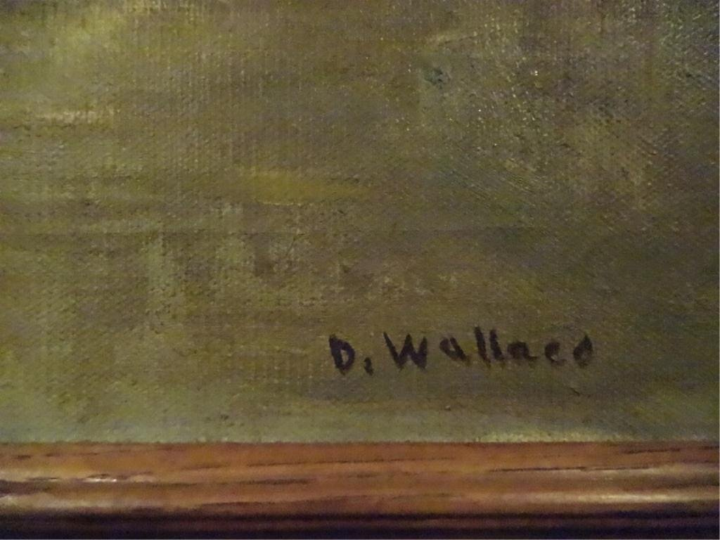 D. WALLACE OIL PAINTING ON CANVAS, LANDSCAPE WITH - 4