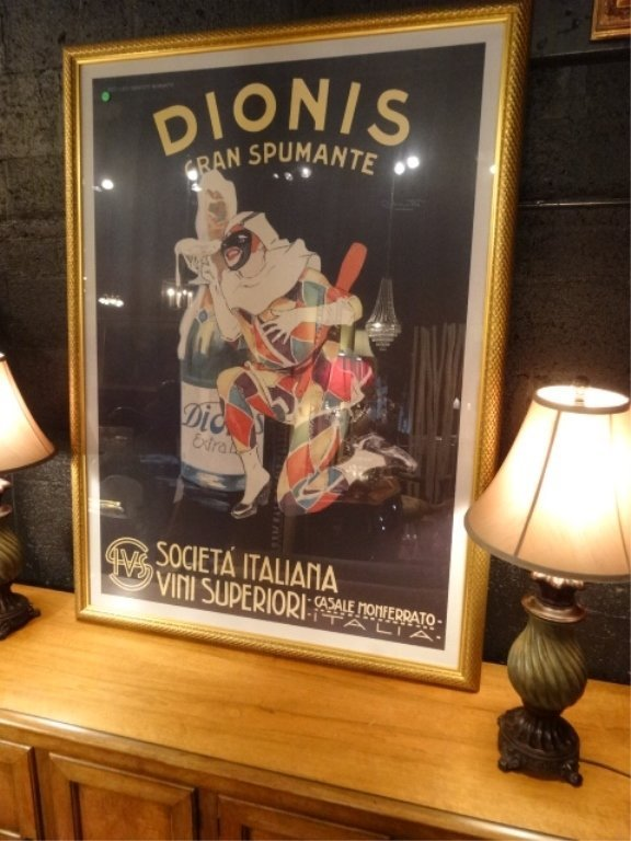 LARGE REPLICA ITALIAN DIONIS ADVERTISING POSTER WITH