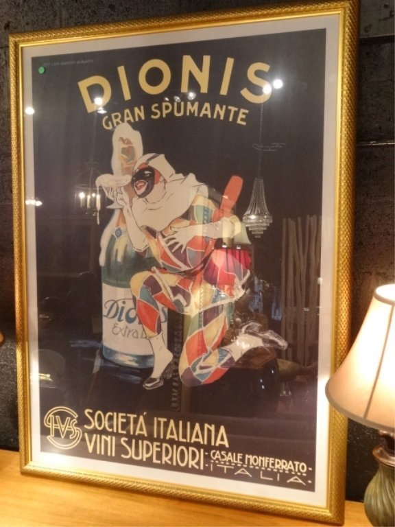 LARGE REPLICA ITALIAN DIONIS ADVERTISING POSTER WITH - 2