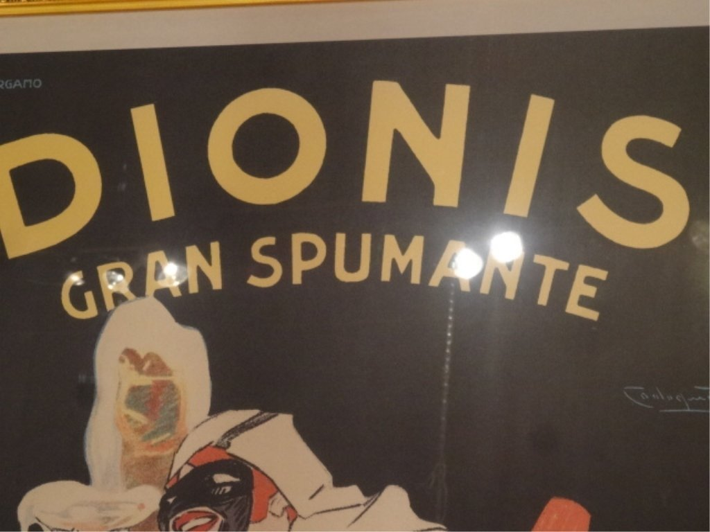 LARGE REPLICA ITALIAN DIONIS ADVERTISING POSTER WITH - 5