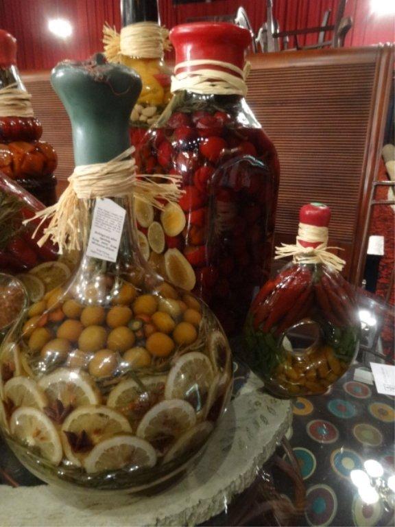 8 pc decorative preserved vegetable fruit jars largest lot 50c - Decorative fruit jars ...