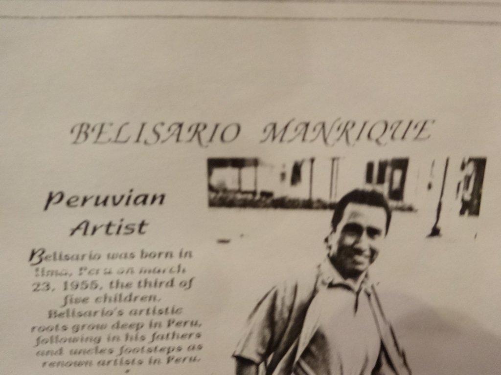 HUGE BELISARIO MANRIQUE WATERCOLOR PAINTING, PARROTS, - 10