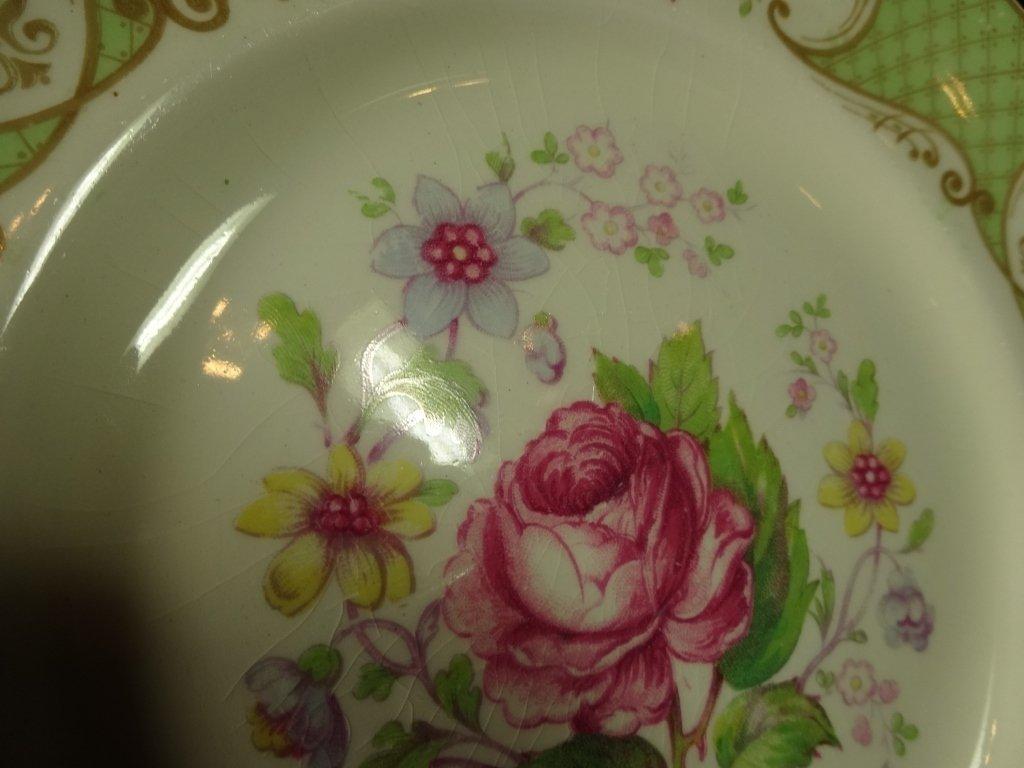 "12 MYOTT CHINA PLATES, ""STAFFORDSHIRE ROSE"", MADE IN - 4"