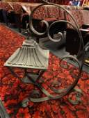 GARDEN WROUGHT IRON CANDLE HOLDER ON ORNATE STAND APPR