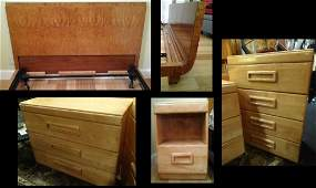 4 PC MID CENTURY MODERN BEDROOM SET INCLUDES CONANT