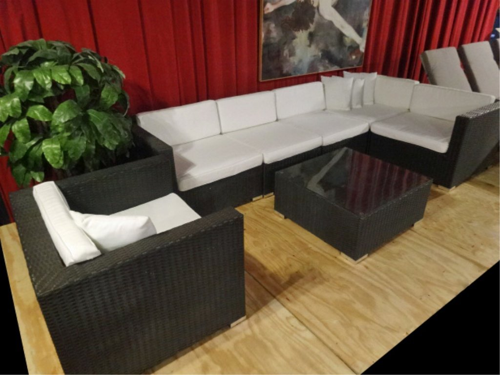3 PC STOAI CONCEPT MODERN SECTIONAL SOFA, CHAIR, AND