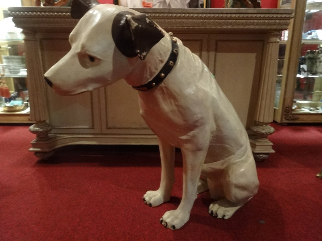 RARE LARGE RCA VICTOR NIPPER DOG STATUE AND SPEAKER,