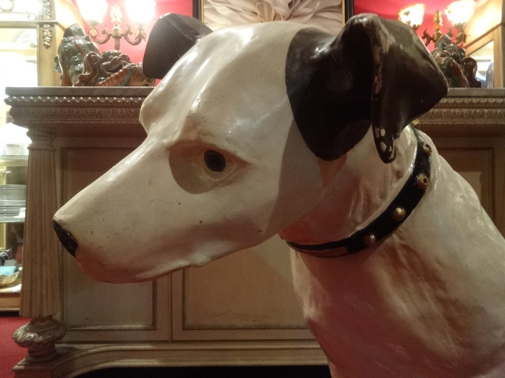 RARE LARGE RCA VICTOR NIPPER DOG STATUE AND SPEAKER, - 2