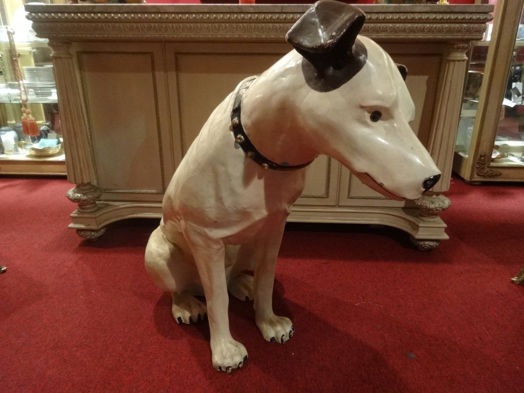 RARE LARGE RCA VICTOR NIPPER DOG STATUE AND SPEAKER, - 4