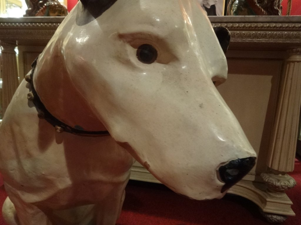 RARE LARGE RCA VICTOR NIPPER DOG STATUE AND SPEAKER, - 5