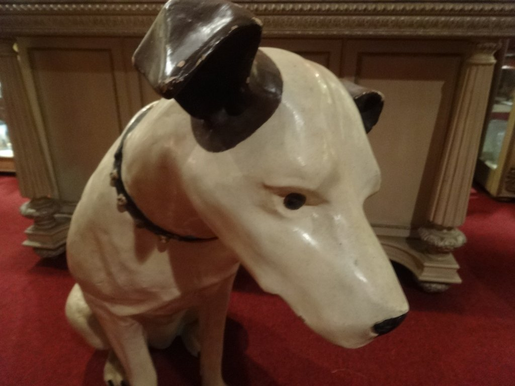 RARE LARGE RCA VICTOR NIPPER DOG STATUE AND SPEAKER, - 6