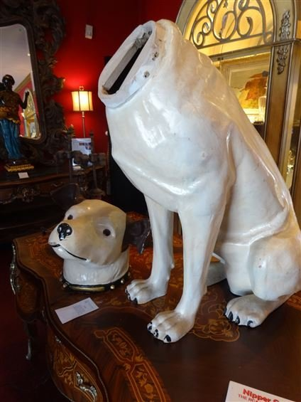 RARE LARGE RCA VICTOR NIPPER DOG STATUE AND SPEAKER, - 7