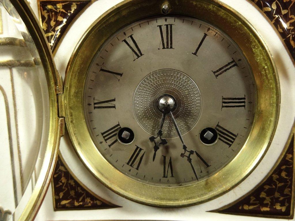 ANTIQUE WEDGWOOD CLOCK, MARKED WEDGWOOD AD 1877 ON - 3